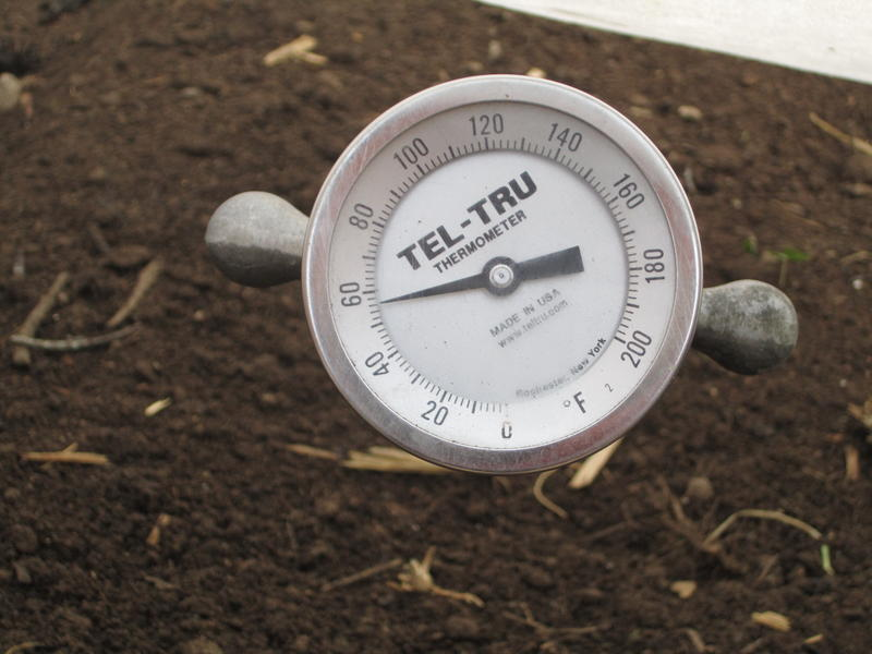 "This system boosts the soil temperature in the ""cool house"". Letarte's system is new, and he doesn't know how well it will work, but he hopes it will double the growth of his greens during the coldest months"