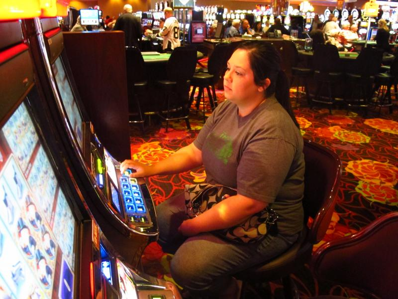 Every week, Morgan Kennedy, 28, drives an hour and a half with her parents, husband and sister to play slots and cards at The Meadows.  Her entire family is employed by a natural gas company in West Virginia.