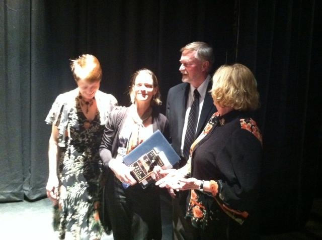 Virginia Prescott, Margaret Talcott, Erik Larson, and Patricia Lynch