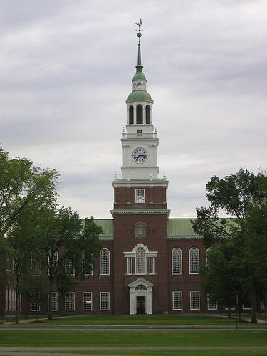 Baker Tower at Dartmouth College.