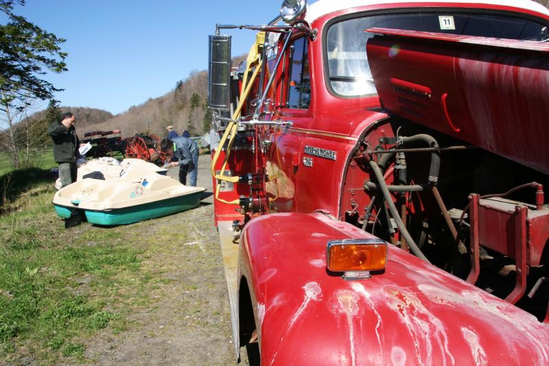 The hotel's old firetruck - claimed to be in running condition - sold for just over $2,100.