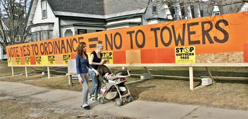 A sign in Lancaster urged passage of the rights-based ordinance but it was rejected 233 to 65.