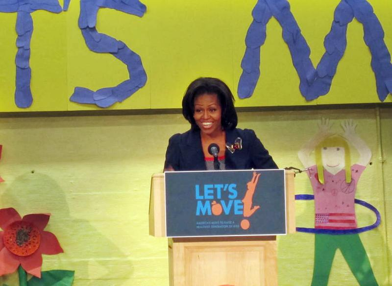 First Lady Michelle Obama Visits Penacook Community Center