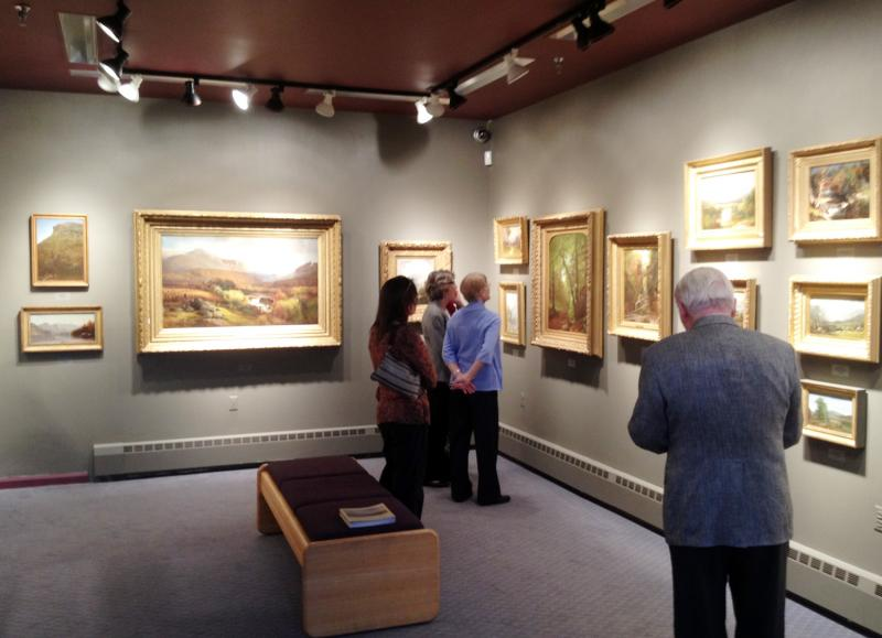 A new exhibit at the Edwards Art Gallery at the Holderness School features 19th Century landscapes