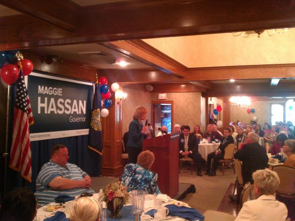 Maggie Hassan speaking in Manchester