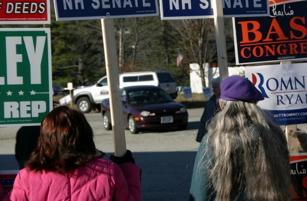 So many voters were showing up at the poll in Littleton that parking was a challenge Tuesday morning.