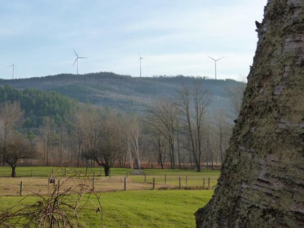 Iberdrola operates two other wind farms in the state. One in Lempster began operating in 2008, and was the first such project in New Hampshire, and one in Groton, pictured here from the banks of the Baker River in Rumney, is just coming online now.