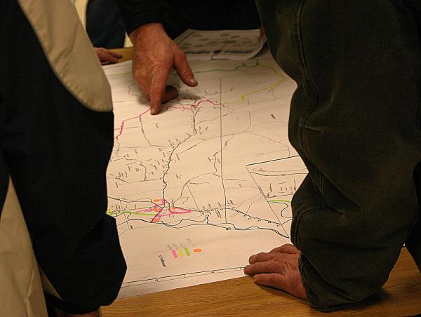 Those attending a public hearing in Colebrook were briefed on routes that might be opened for ATV use.