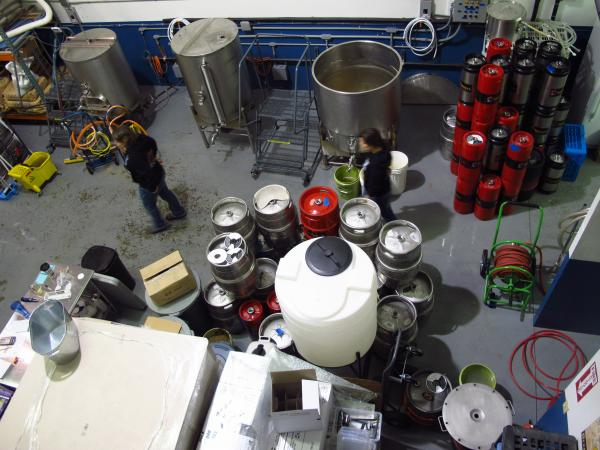 Throwback Brewery has a three-barrel system, which makes it very small compared to most craft breweries, but larger than other nanobreweries.