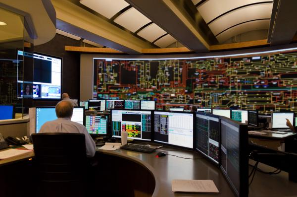 PSNH's control center monitors the flow of electricity across the grid in New Hampshire.