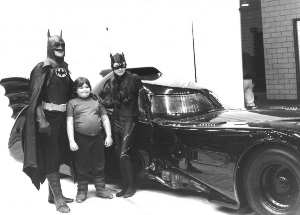 Actual photo of actual me as Catwoman at a car show.