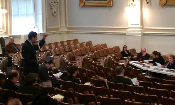 Commissioner Christopher Clement of NH DOT testifies before the House committee