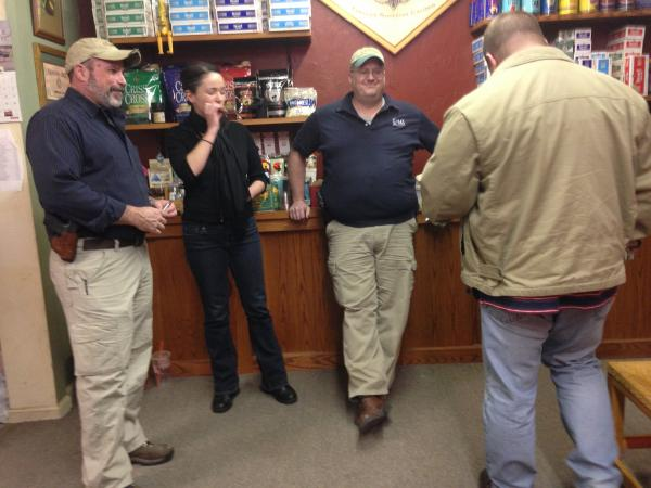 Reporter Emily Corwin visited an 'Alcohol, Tobacco and Firearms' night at Twins Cigars in Hooksett, to talk about open-carry culture as part of our upcoming series, A Loaded Issue.