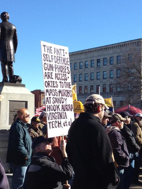 Second amendment supporters rallied in front of the State House on Thursday.