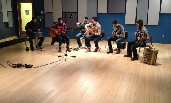 New Hampshire band Tan Vampires performing in our studios. You can hear their performance next week on Word of Mouth