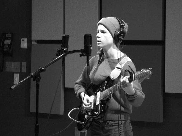 Lady Lamb the Beekeeper performing in Studio D