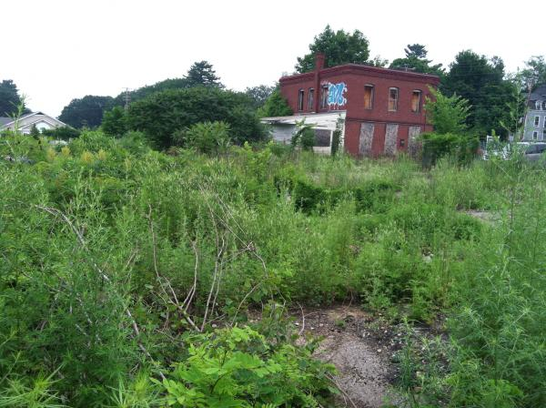 The site of an old Tannery in Penacook served as the backdrop for the announcement of the grant money. This site is already slated for clean-up and redevelopment.