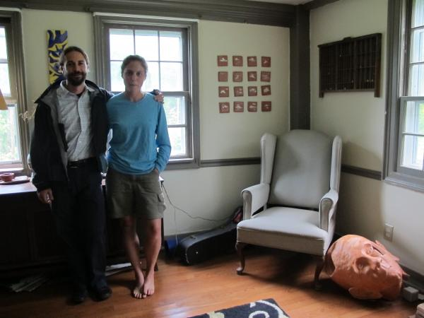 Mike Hvizda and Ryan Ferdinand are farmers and artists in Boscawen. Because farming is so costly, however, they are scaling back to focus on careers as realtors.