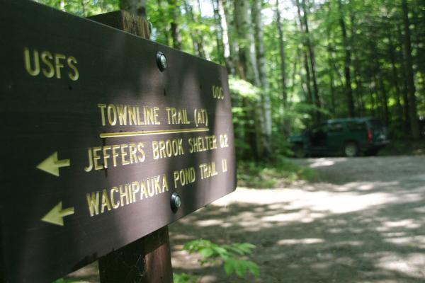 At the Appalachian Trail, where a hiker was found dead recently.
