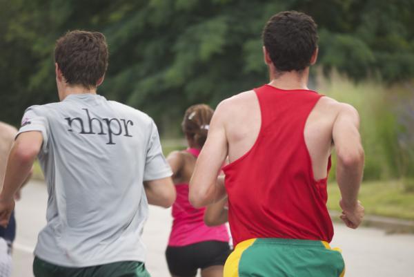 NHPR's Sam Evans-Brown runs the CIGNA/Elliot 5k.