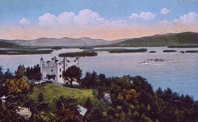 A postcard depicting Kimball Castle, back in the day.