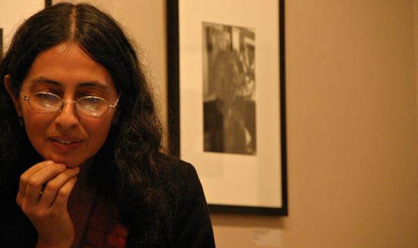 Elvira Piedra, a local photographer who showed her prints during Bethlehem's Art Walk