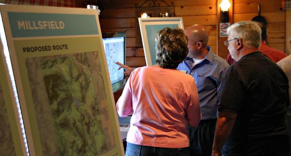 Northern Pass holds its first town meeting on its proposed new route.