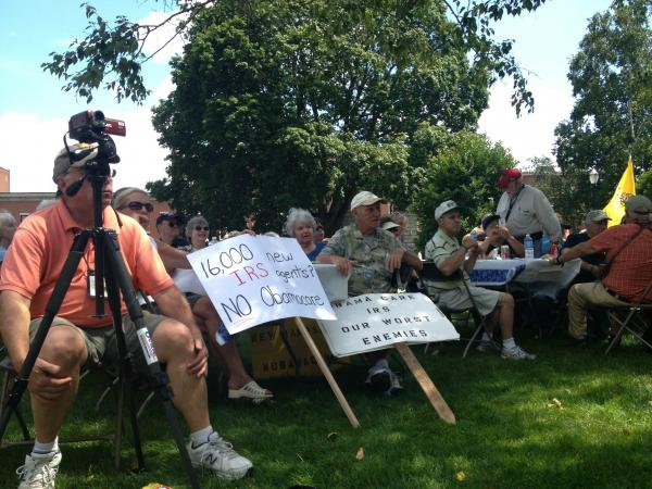 N.H. residents protesting the federal healthcare law rallied in front of the State House Thursday.