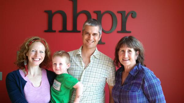 Matt and Shannon Heaton and three year old son Nigel, with Folk Show host Kate McNally