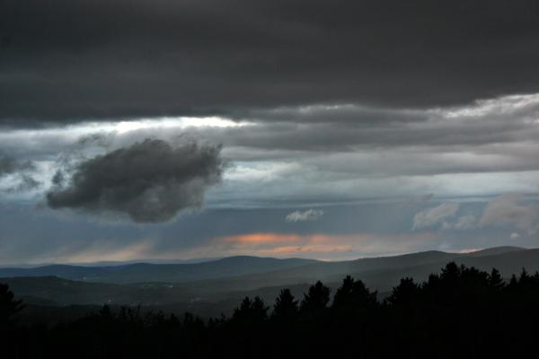 Recent stormy weather in the North Country made for some dramatic views.