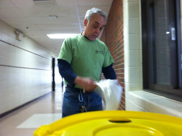 Bob Provencher is a custodian at Thorntons Ferry School in Merrimack.