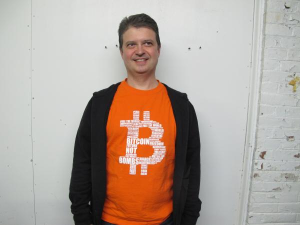 Pedro Aguiar, an early adopter of Bitcoin, a digital currency that recently experienced a surge in value.