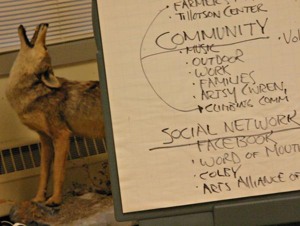 The focus group was held at the North Country Resource Center in Lancaster. Photo by Chris Jensen for NHPR.