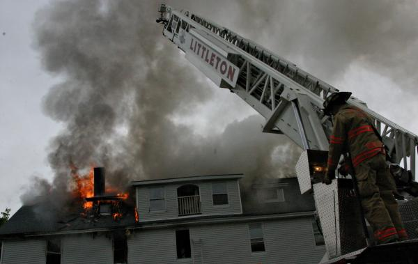 A fire in Bethlehem in 2012 badly damaged an apartment building. Photo by Chris Jensen for NHPR