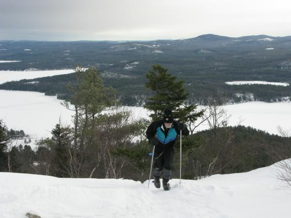 Arthur Richardson pushes toward the summit of Mount Major on a recent hike. He completed the climb twice this day