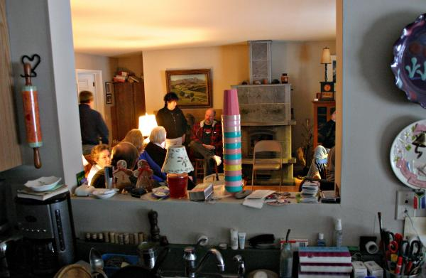 Millsfield has no town hall so voters meet at the Peace of Heaven bed and breakfast. Photo by Chris Jensen for NHPR.