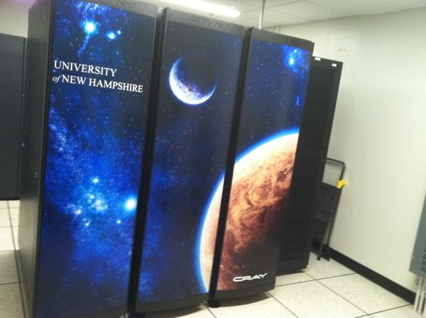 The Cray supercomputer cost over a million dollars to install at UNH, and runs math used in space physics, among other computations.