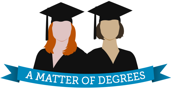 """A Matter of Degrees"" logo"