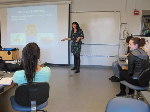 Kristen Porter-Utley teaches biology to first year students at Keene State College.