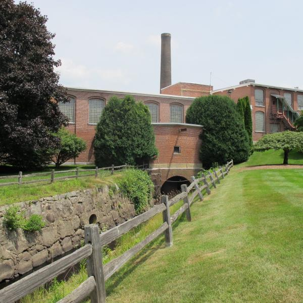 Monadnock Paper Mills is an unusually scenic factory complex