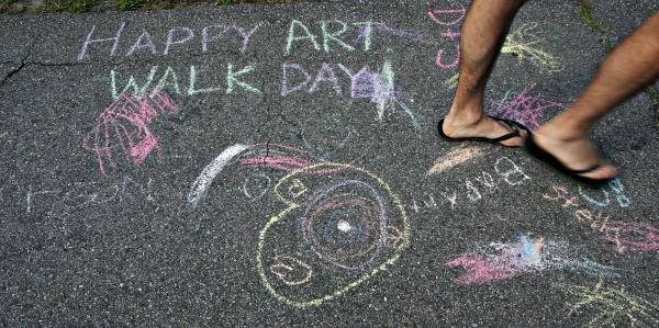 Bethlehem's annual Art Walk will be held Saturday, August 16th. Photo by Chris Jensen for NHPR