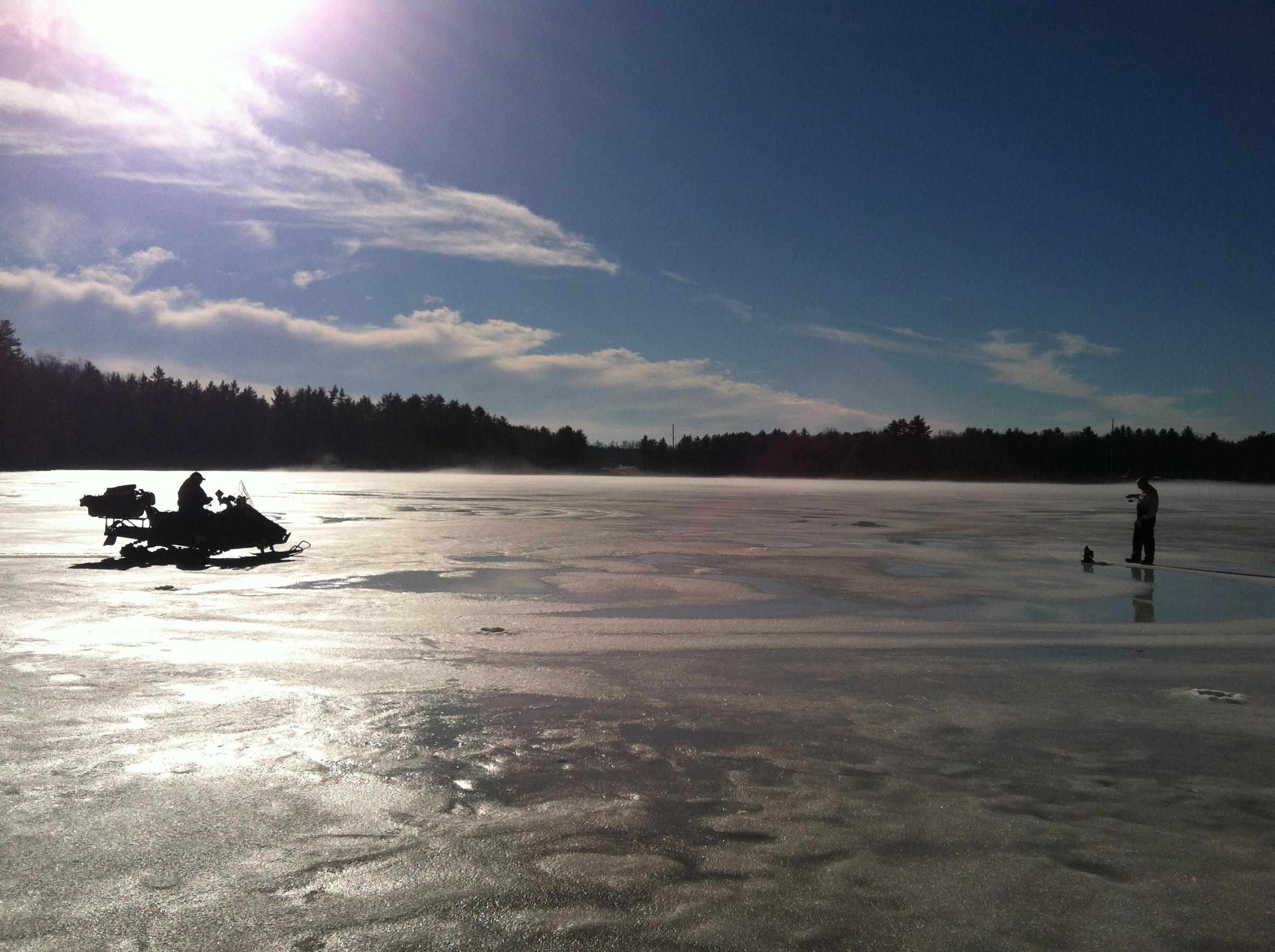 Innovation comes to ice fishing new hampshire public radio for Ice fishing nh