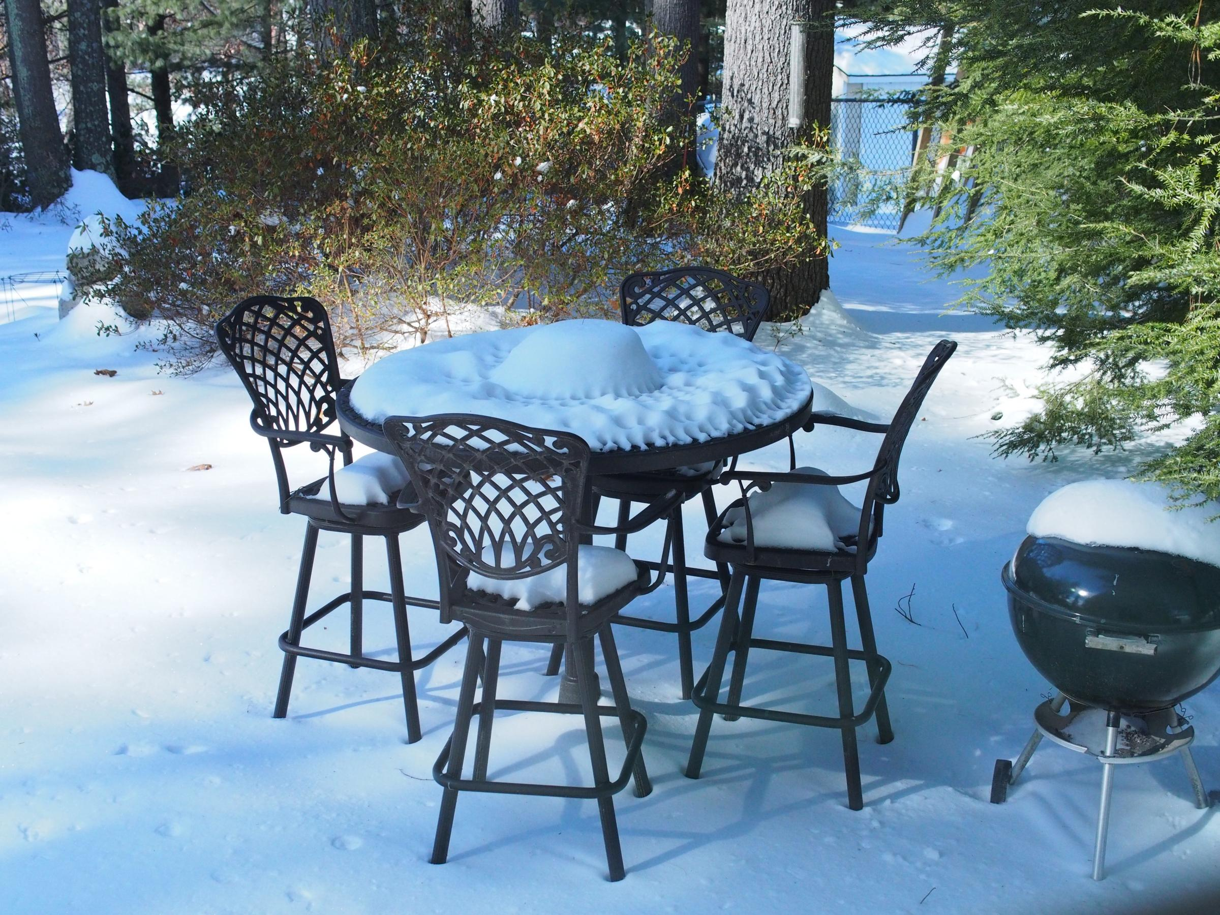 The Subtle Beauty Of Snow Covered Patio Furniture New Hampshire Public Radio