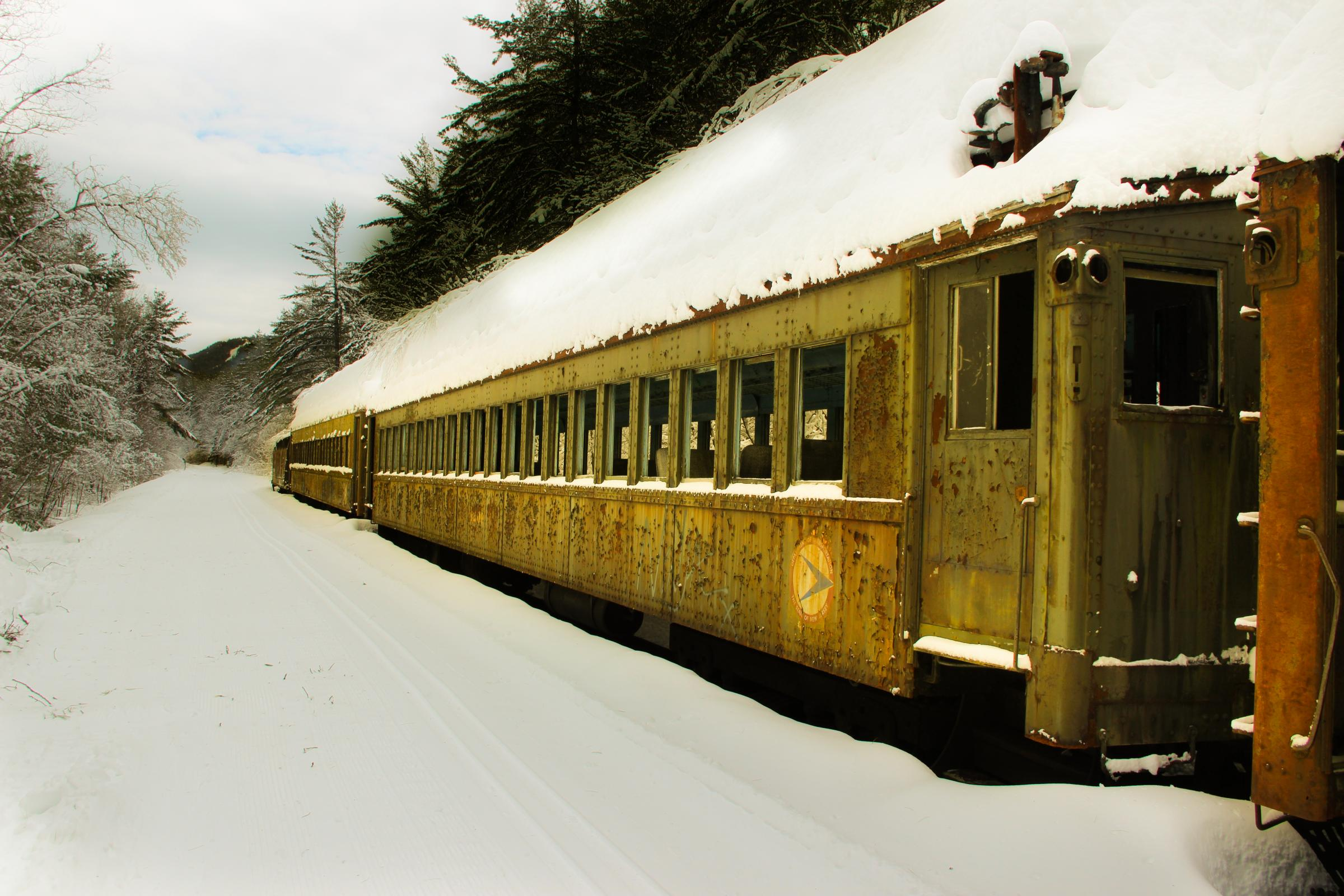 How An Abandoned Train Ended Up In A N H Forest New