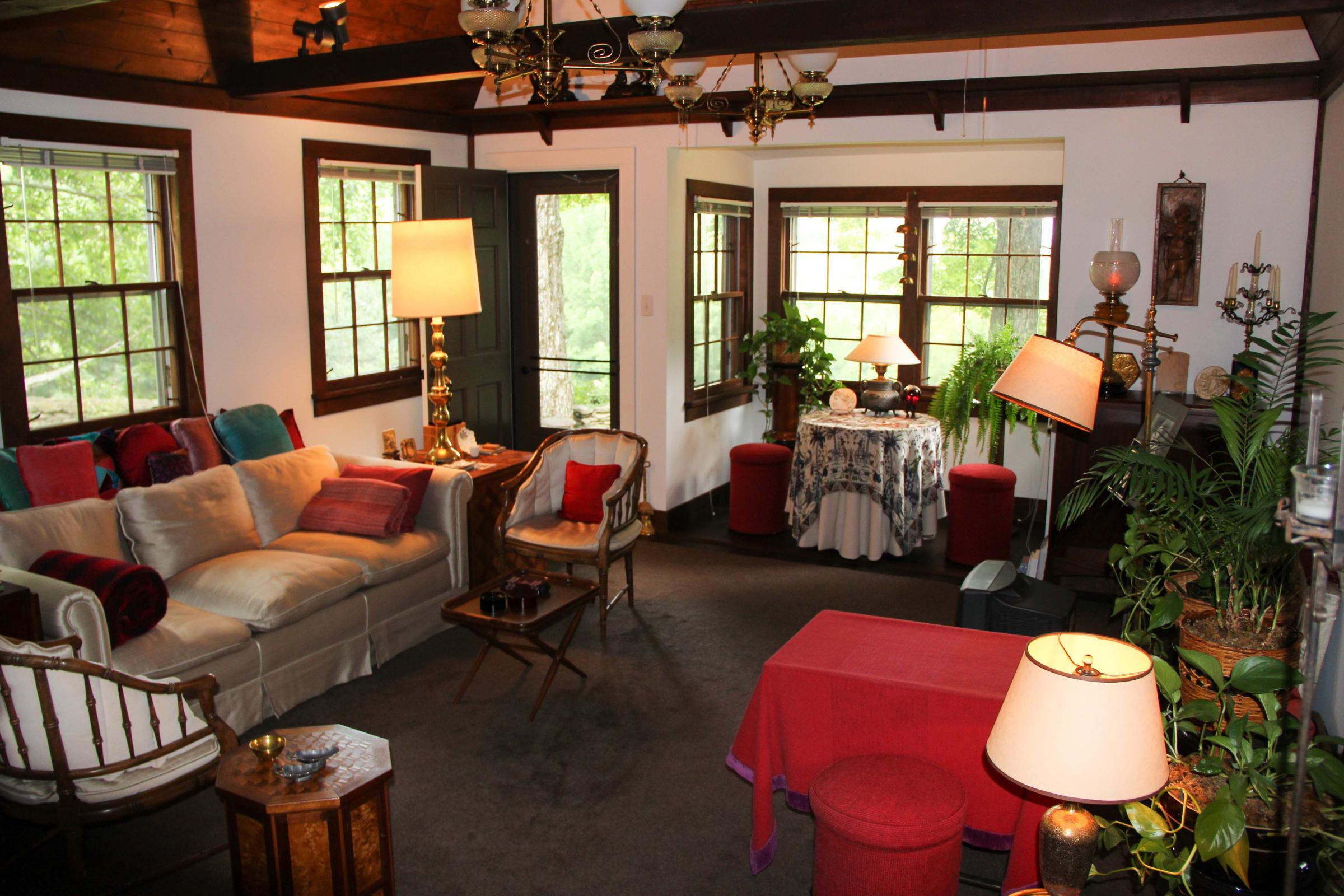 Inside The Main Room Of Original Cottage