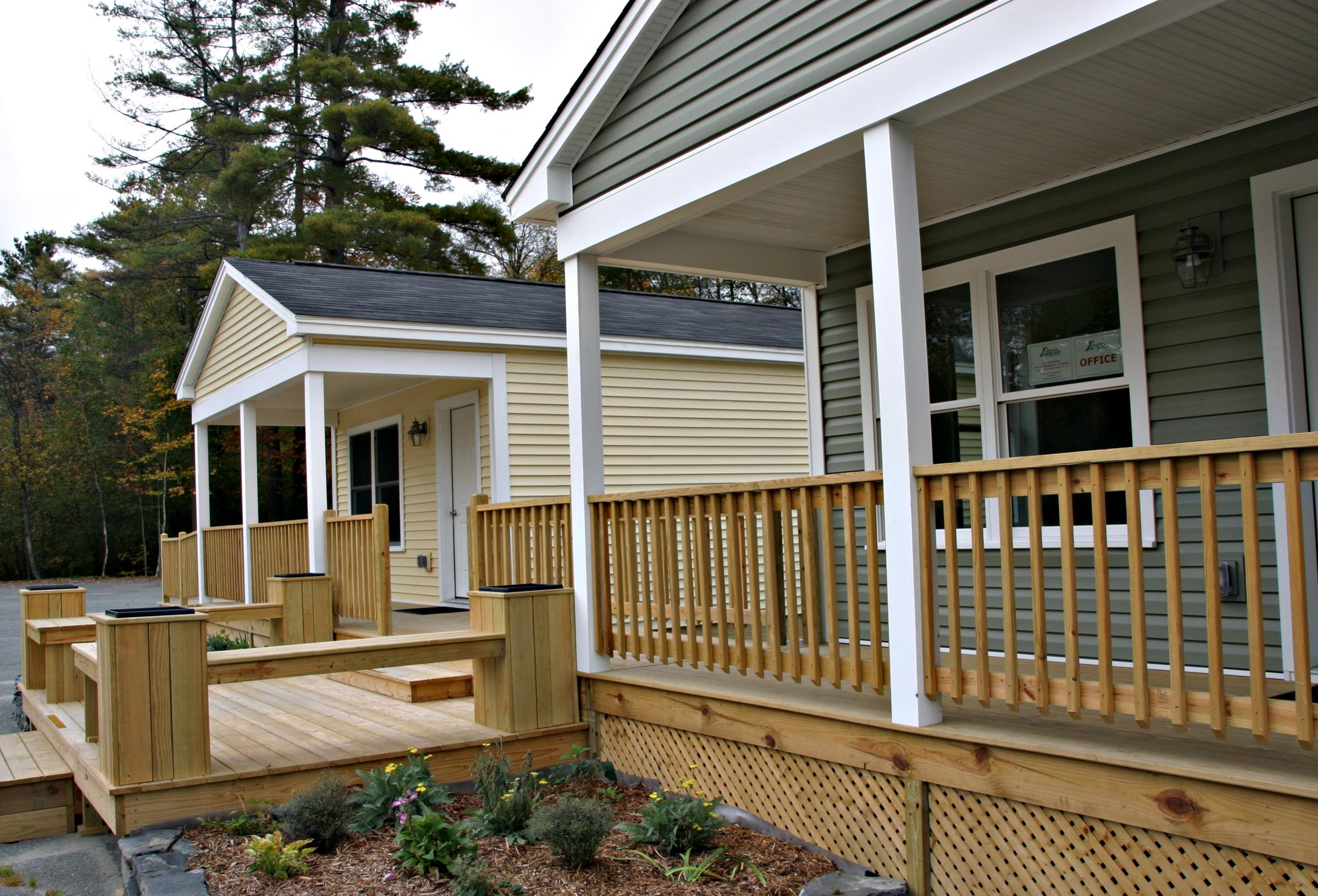 Better Homes Ahead is selling modular homes - shown here - as well as  manufactured homes.