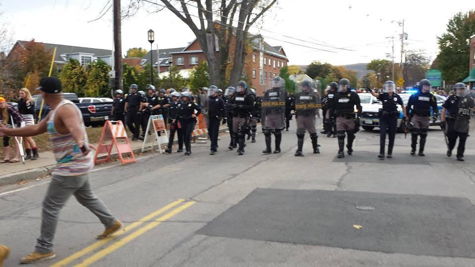 Police In Riot Gear Clash With Crowd In Keene, Several Injuries Reported | New Hampshire Public ...