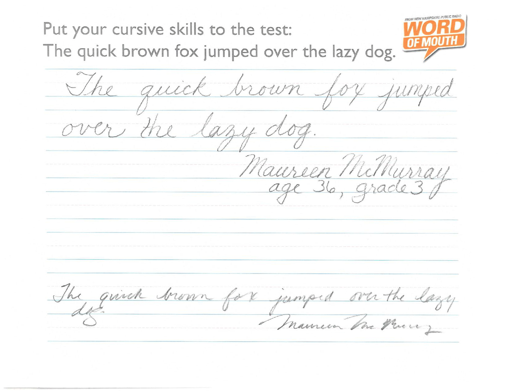 putting our cursive skills to the test new hampshire public radio