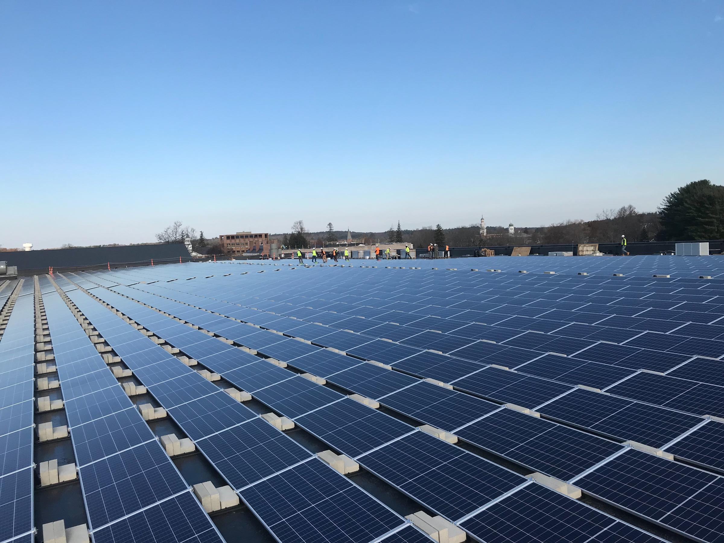 Solar Array At Phillips Exeter Academy Among N H S