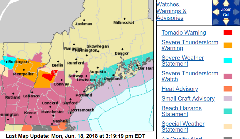 Tornado Warning Issued for Carroll, Grafton Counties in N.H